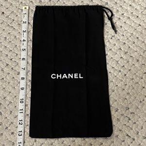 CHANEL Purse Black White Logo cross-body DUST BAG